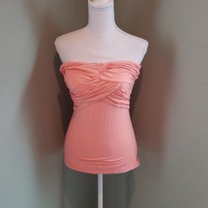 NWOT bebe ruched strapless top sz S